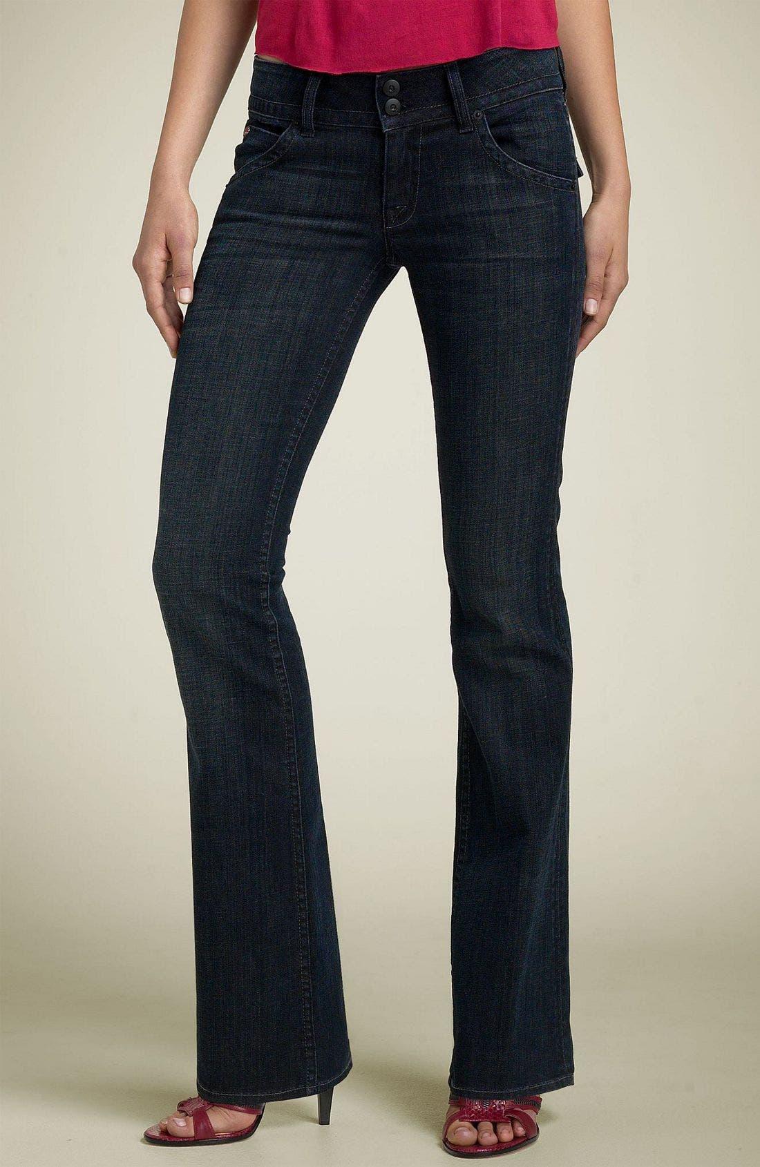 ,                             Signature Flap Pocket Bootcut Jeans,                             Main thumbnail 82, color,                             488