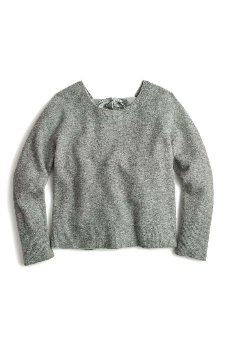 J.CREW Voletta V-Back Sweater, Main, color, 020