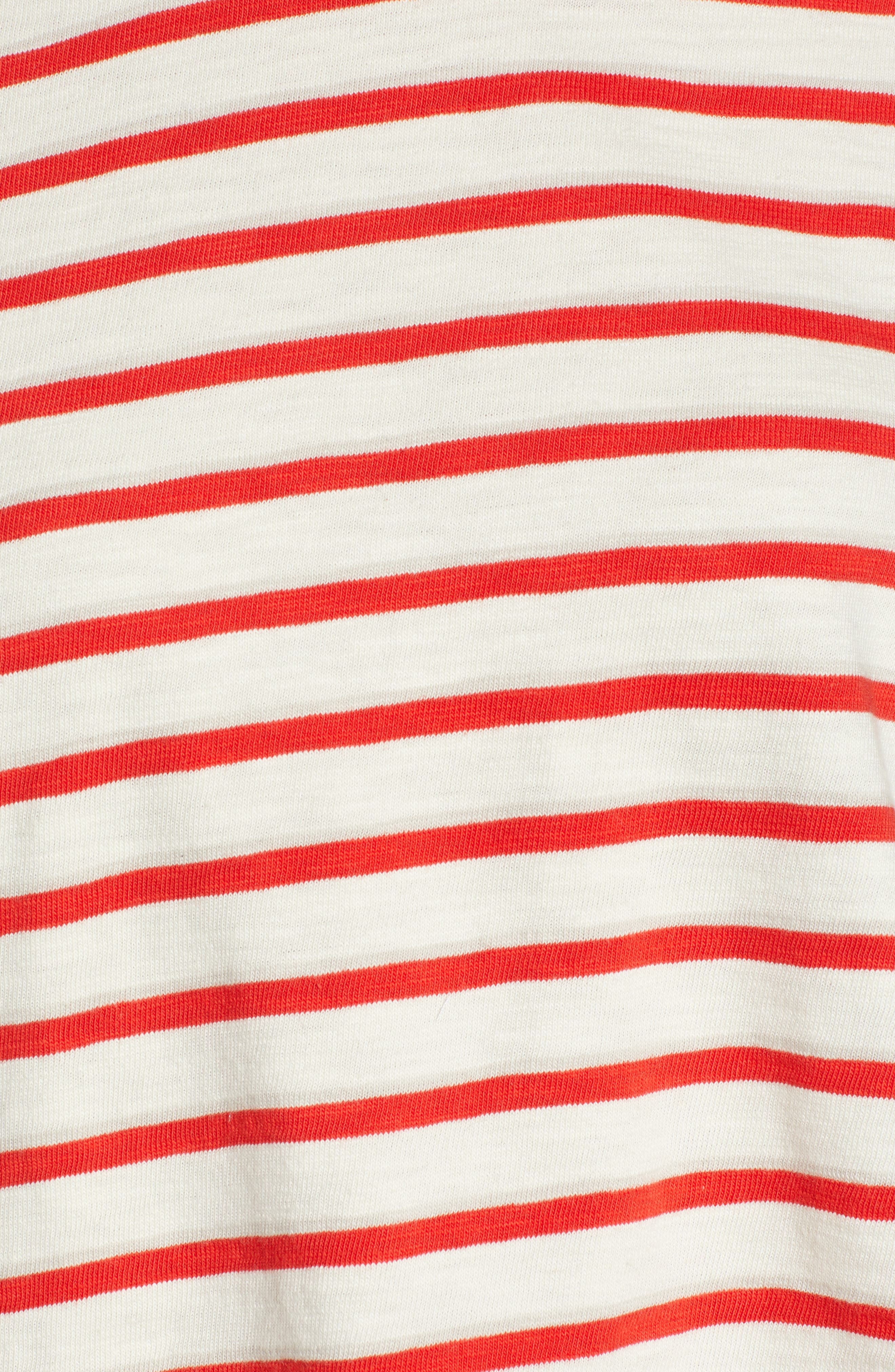 ,                             Bonnie Stripe Cotton Top,                             Alternate thumbnail 5, color,                             600