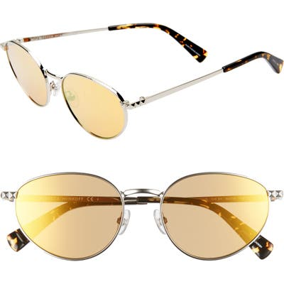 Rebecca Minkoff Stevie1 5m Oval Sunglasses - Palladium
