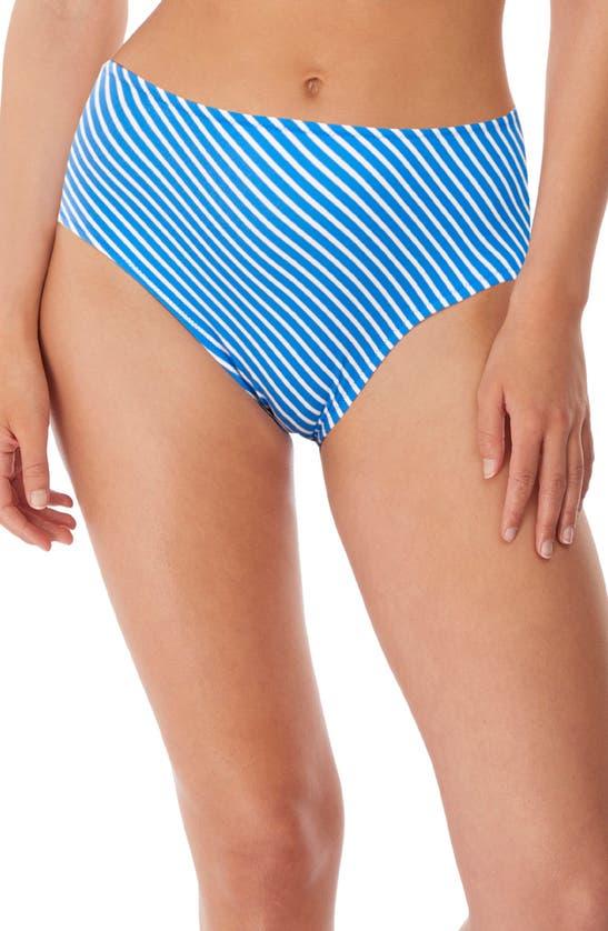 Freya Beach Hut High Waist Bikini Bottoms In Blue Moon