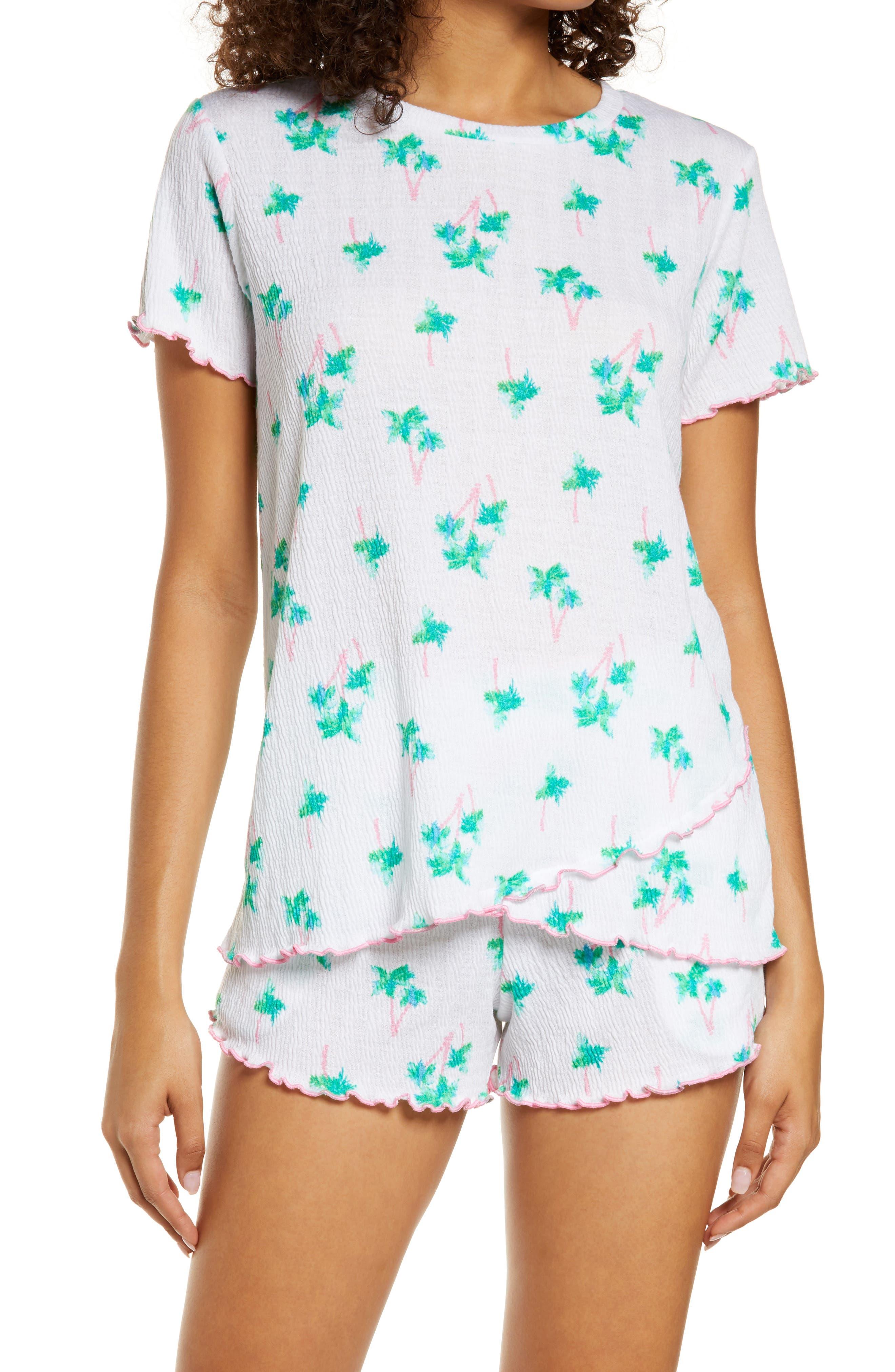 Overlap Hem Short Pajamas
