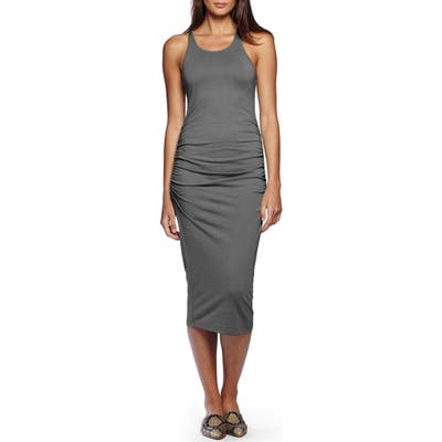 Petite Michael Stars Racerback Midi Dress, Grey