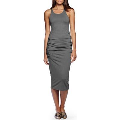 Petite Michael Stars Racerback Midi Dress, Grey