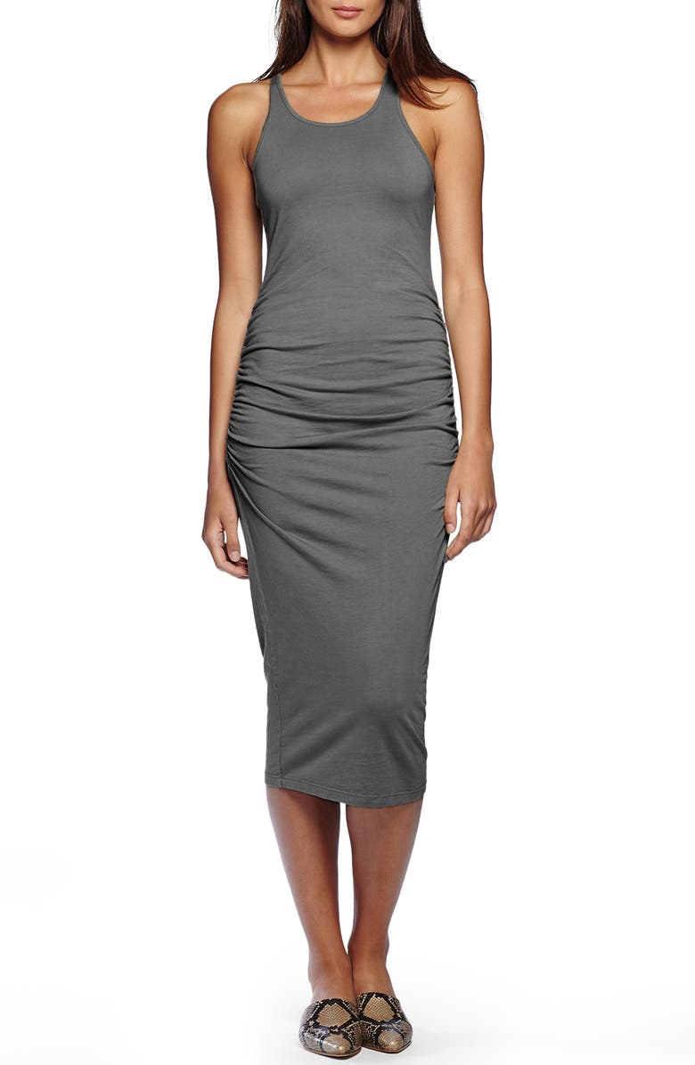 MICHAEL STARS Racerback Midi Dress, Main, color, OXIDE