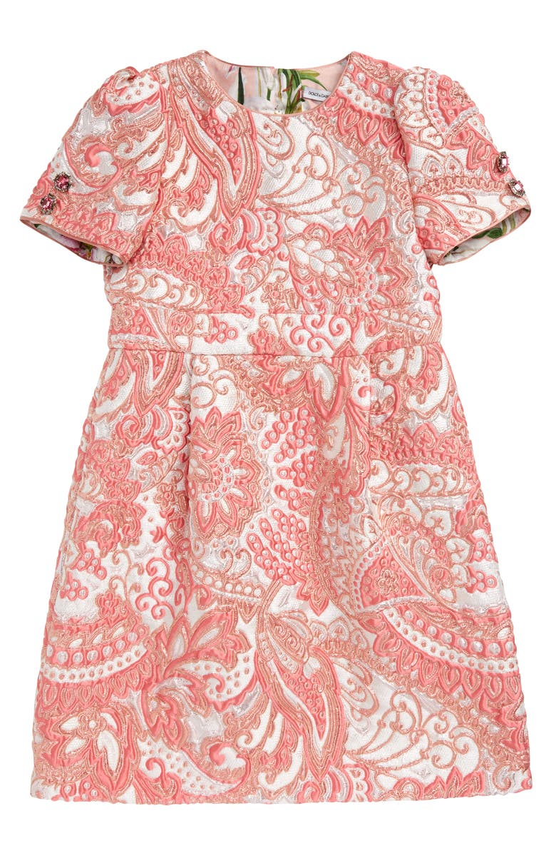 DOLCE&GABBANA Paisley A-Line Dress, Main, color, 650