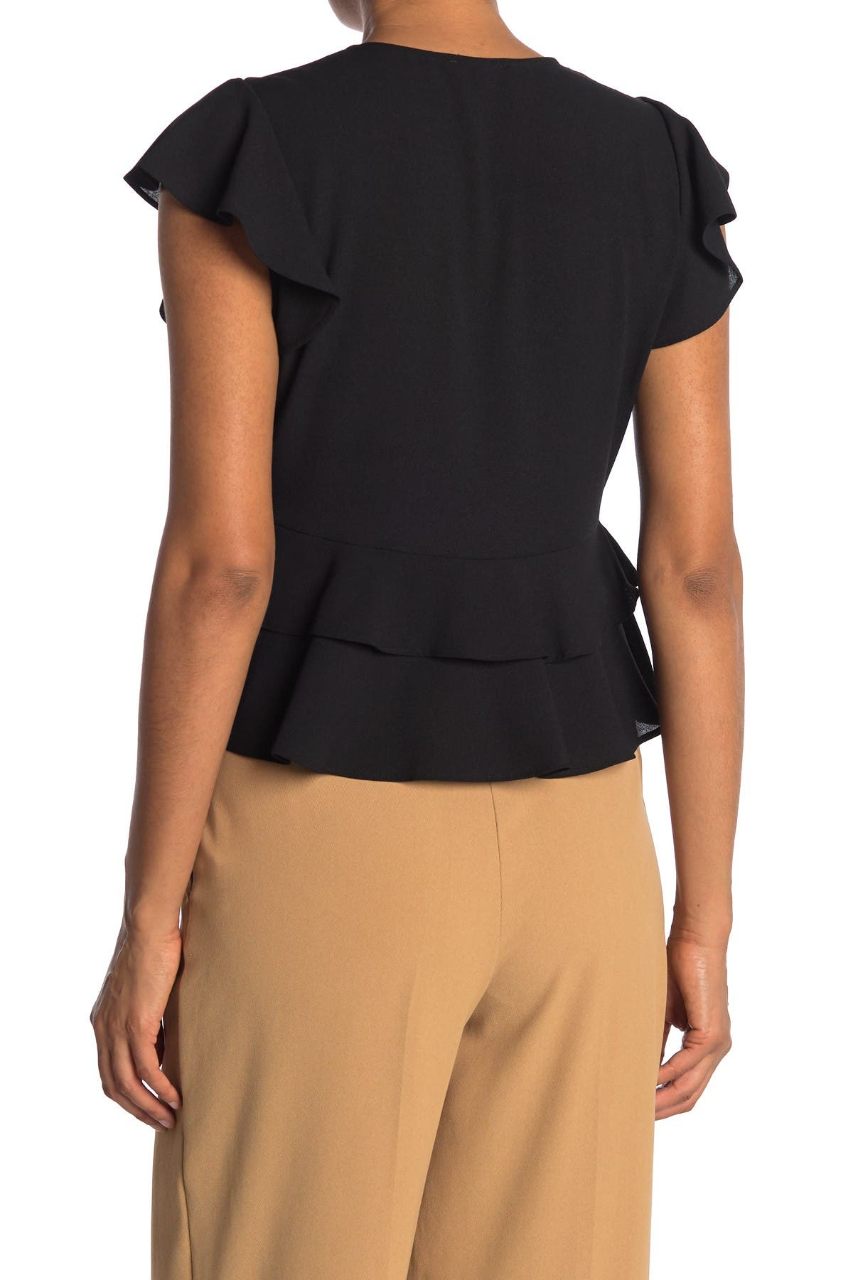 Image of 1.State Flutter Sleeve Button Front Blouse