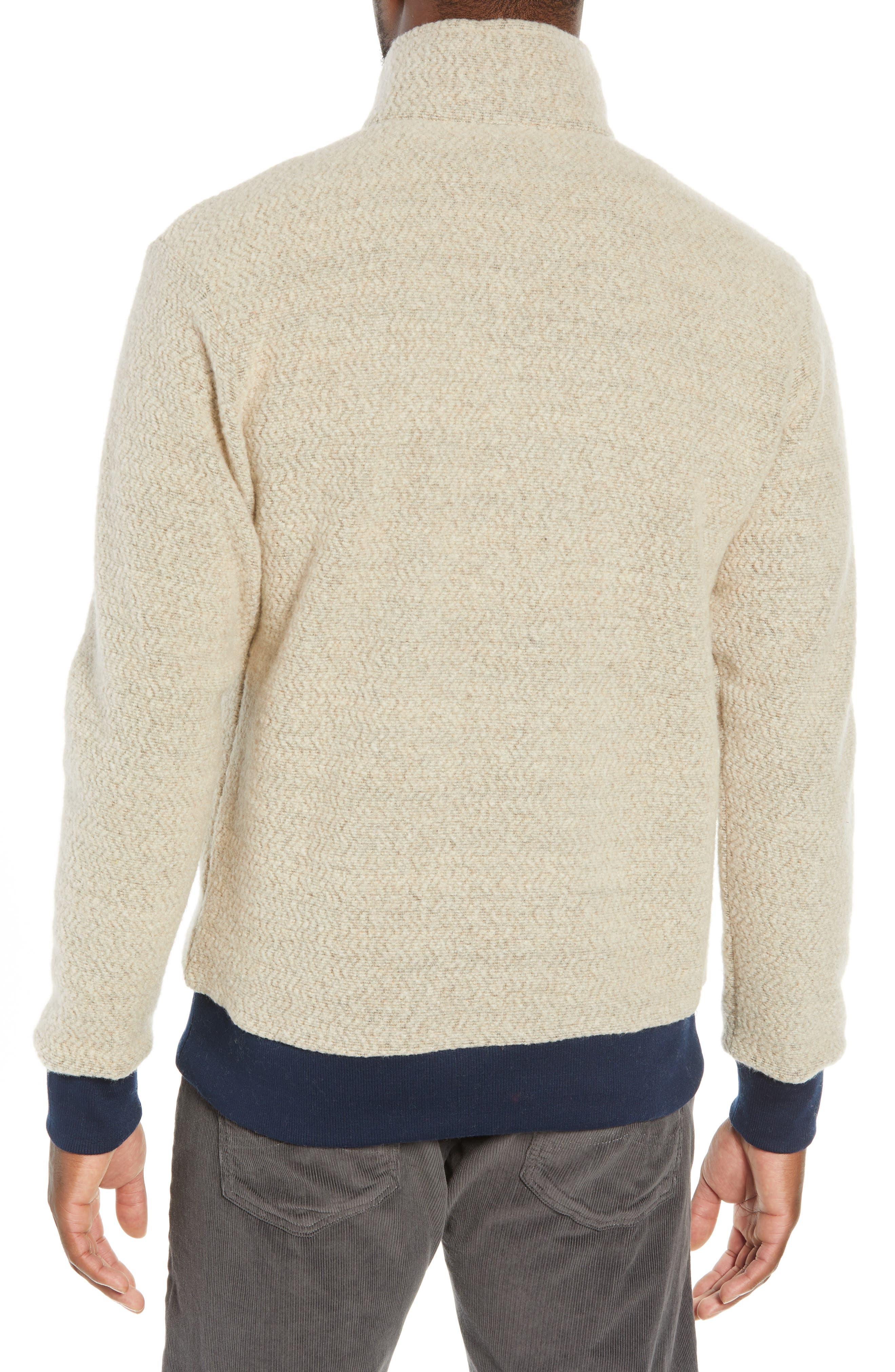 ,                             Woolyester Fleece Quarter Zip Pullover,                             Alternate thumbnail 2, color,                             OATMEAL HEATHER