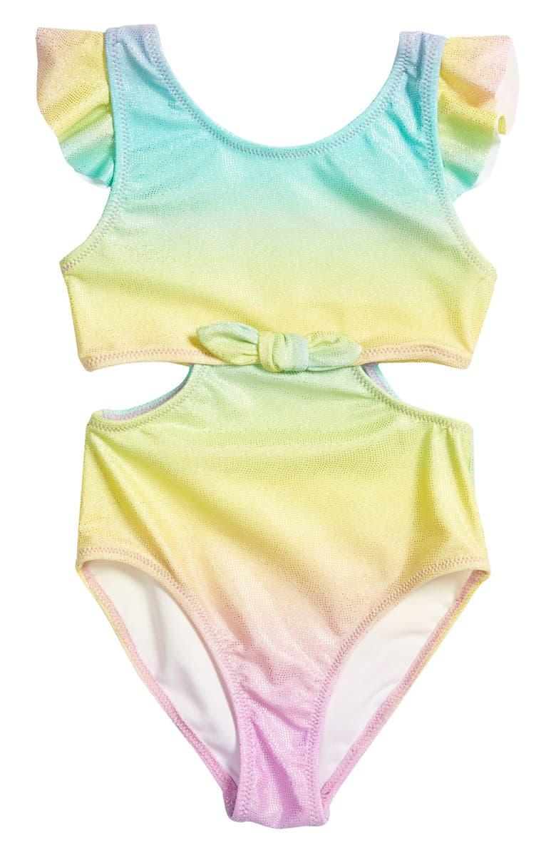FLAPDOODLES One-Piece Swimsuit, Main, color, MULTI