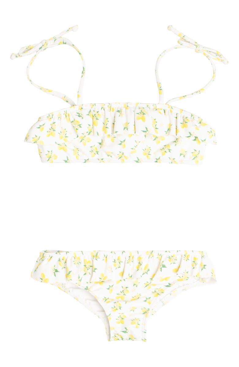 MINNOW Lemon Drop Two-Piece Swimsuit, Main, color, YELLOW