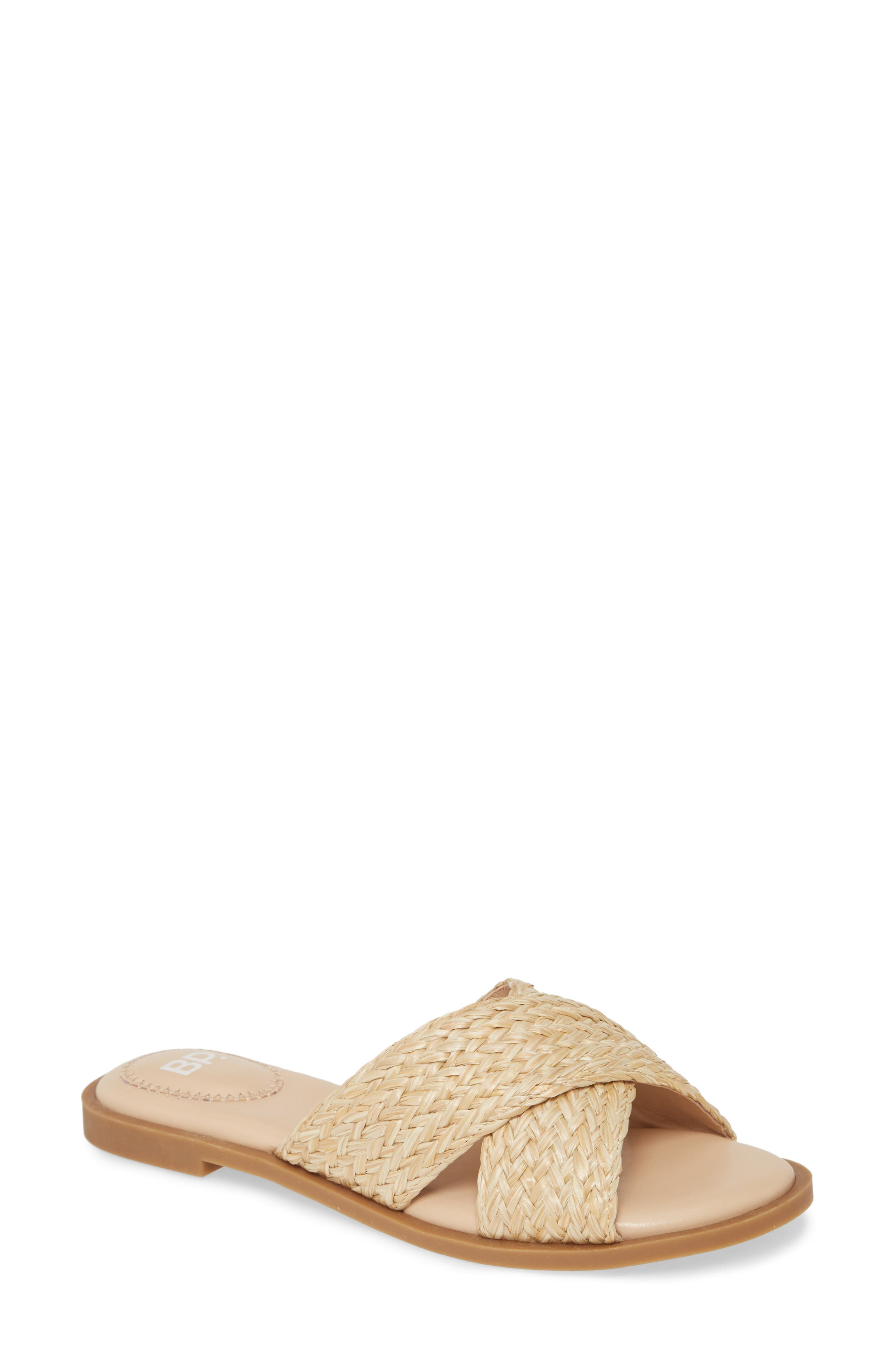Women s Bp Winnie Woven Flat Slide Sandal E549