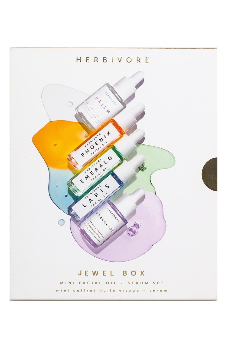 HERBIVORE BOTANICALS Jewel Box Mini Facial Oil & Serum Set, Main, color, NO COLOR