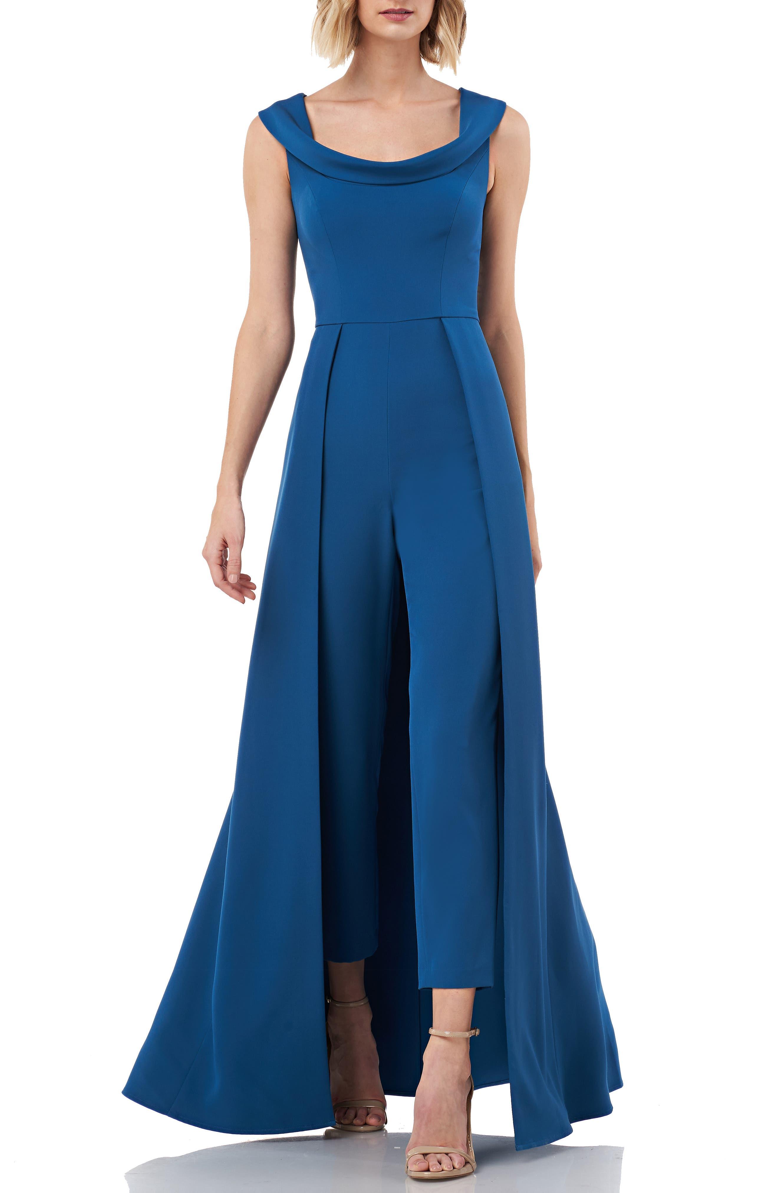 1950s Hostess Gown Pant Set- I Love Lucy Dress Womens Kay Unger Jumpsuit Gown Size 10 - Bluegreen $268.00 AT vintagedancer.com