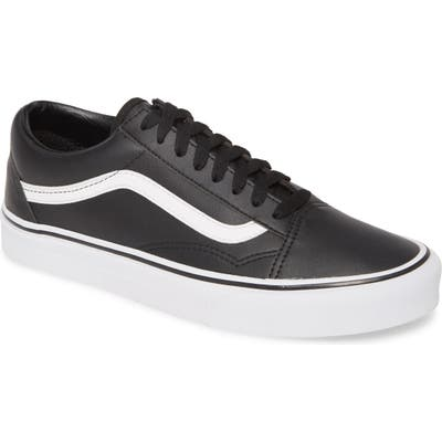 Vans Old Skool Classic Faux Leather Sneaker, Black
