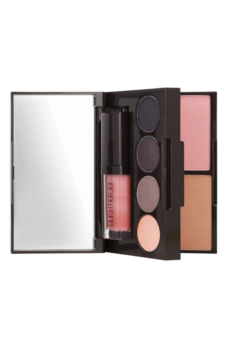 LAURA MERCIER 'Color to Go - Smokey Violet' Eye, Lip & Cheek Palette, Main, color, 000