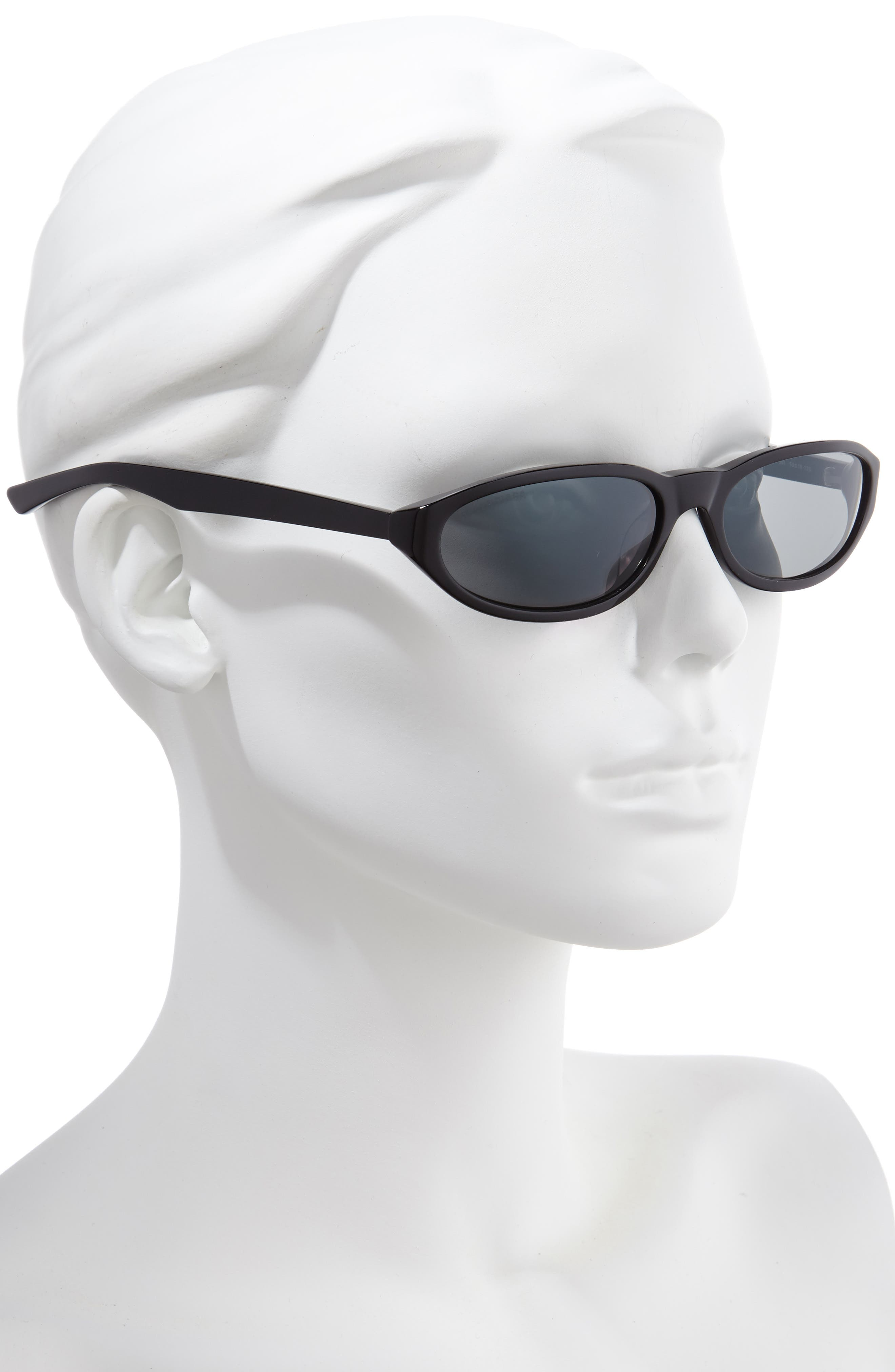 ,                             59mm Cateye Sunglasses,                             Alternate thumbnail 2, color,                             SHINY BLACK/ GREY