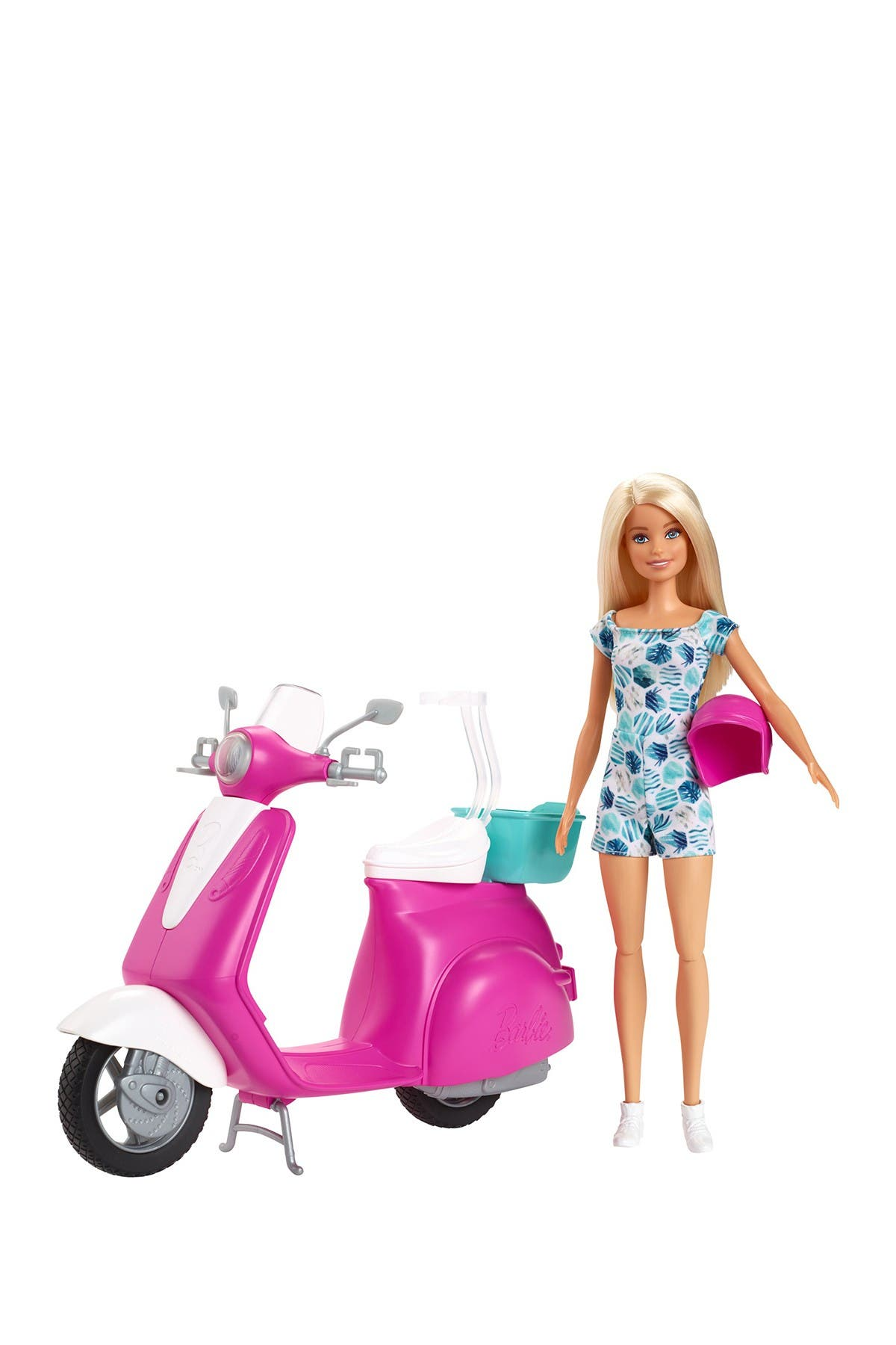 Image of Mattel Barbie Doll and Scooter