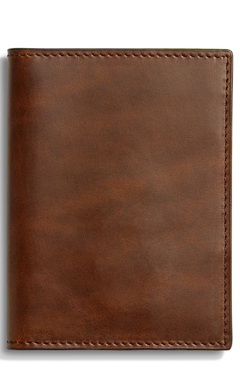 SHINOLA Navigator Passport Wallet, Main, color, MEDIUM BROWN