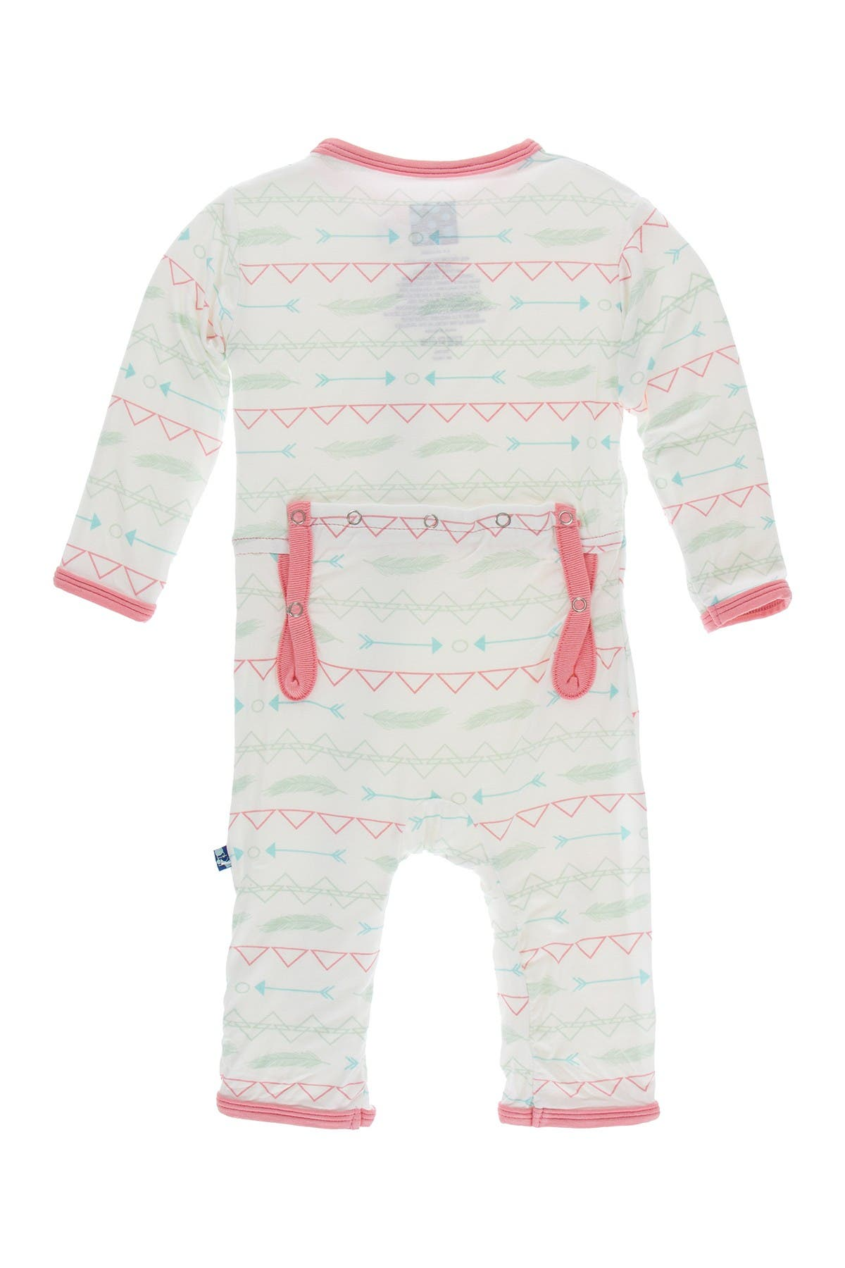 Image of KicKee Pants Print Coverall with Zipper in Pistachio Southwest