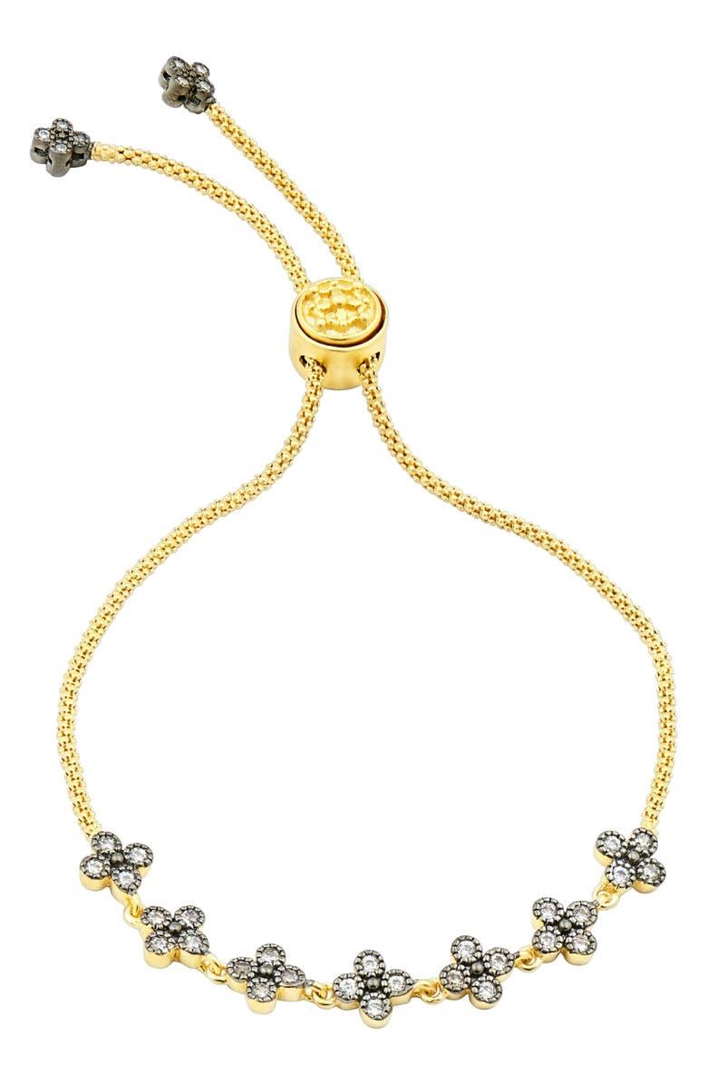 FREIDA ROTHMAN Adjustable Clover Bracelet, Main, color, 710