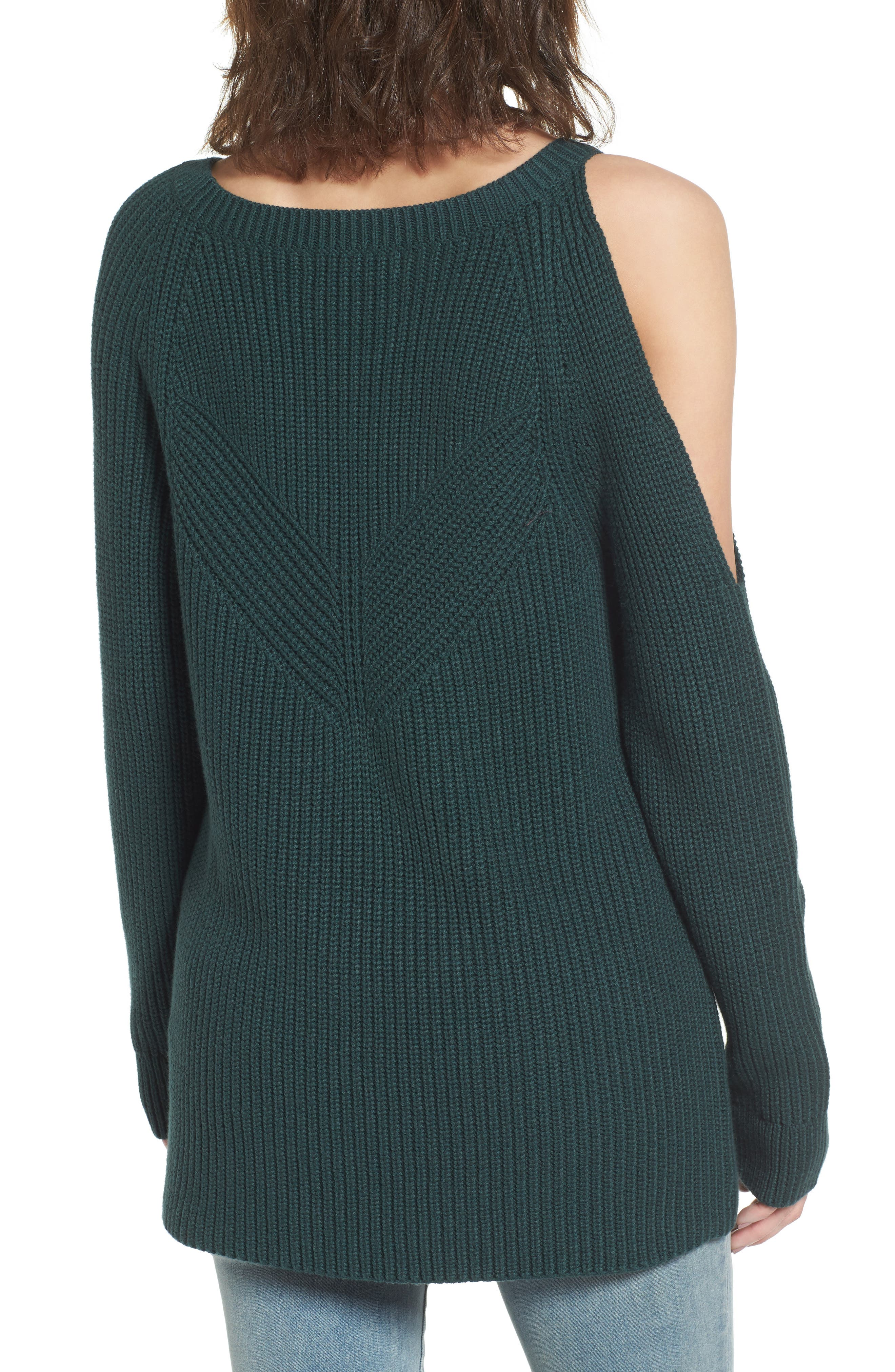 ,                             Asymmetrical Cold Shoulder Sweater,                             Alternate thumbnail 8, color,                             300