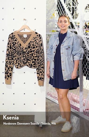 Leopard Pattern Twist Front Sweater, sales video thumbnail