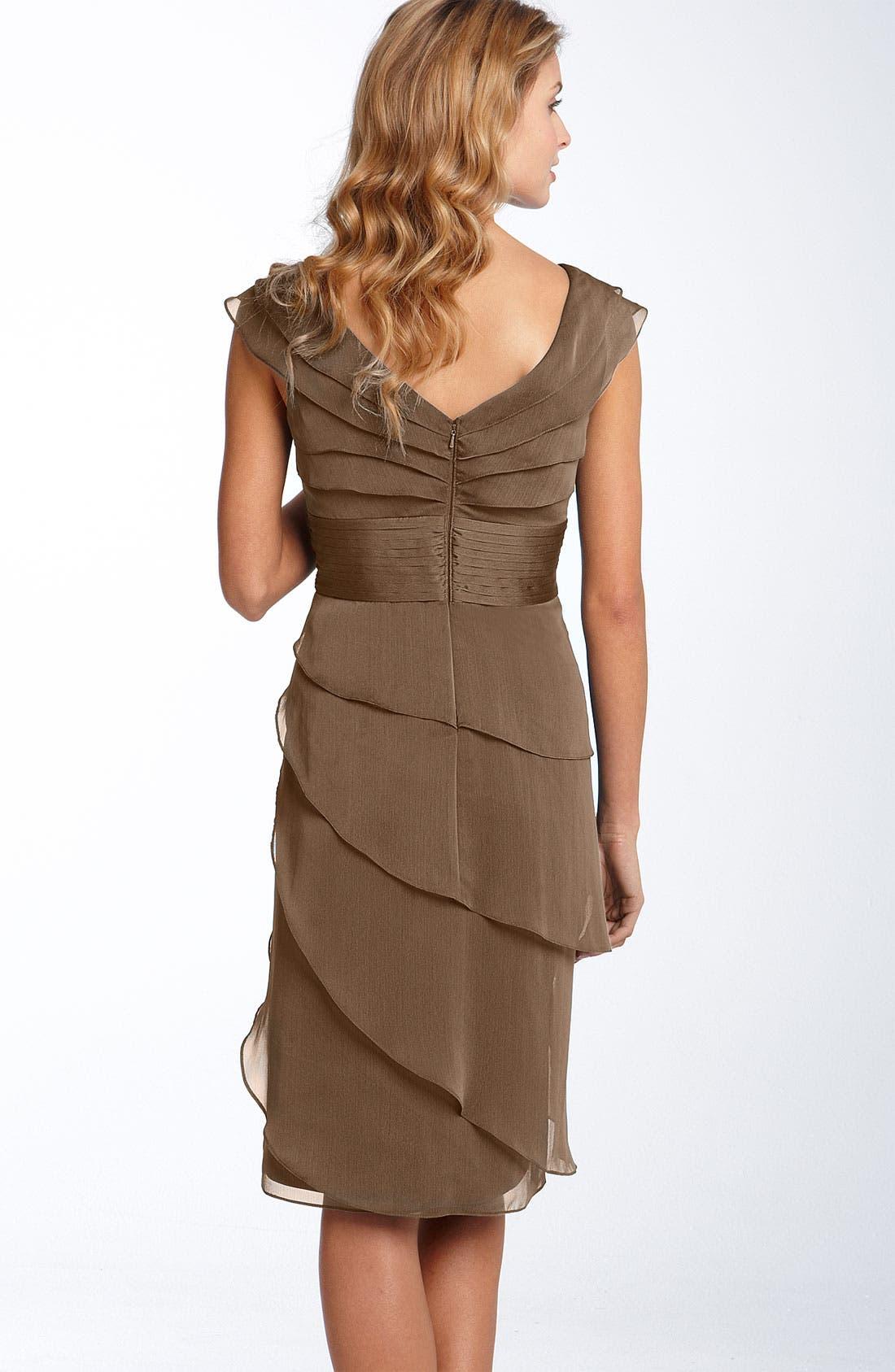 ,                             Tiered Chiffon Dress,                             Alternate thumbnail 5, color,                             200