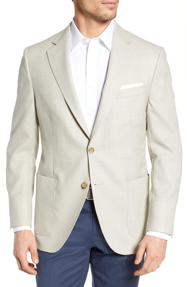 PETER MILLAR Hyperlight Classic Fit Solid Wool Sport Coat, Main, color, 210