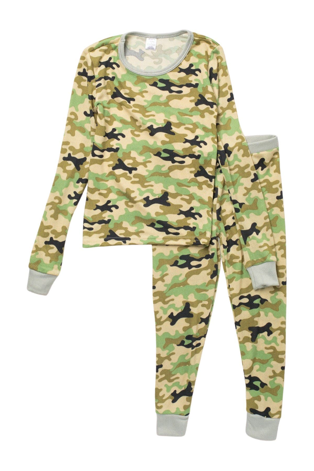 Image of MODERN KIDS Camo Print Long Sleeve Pajamas