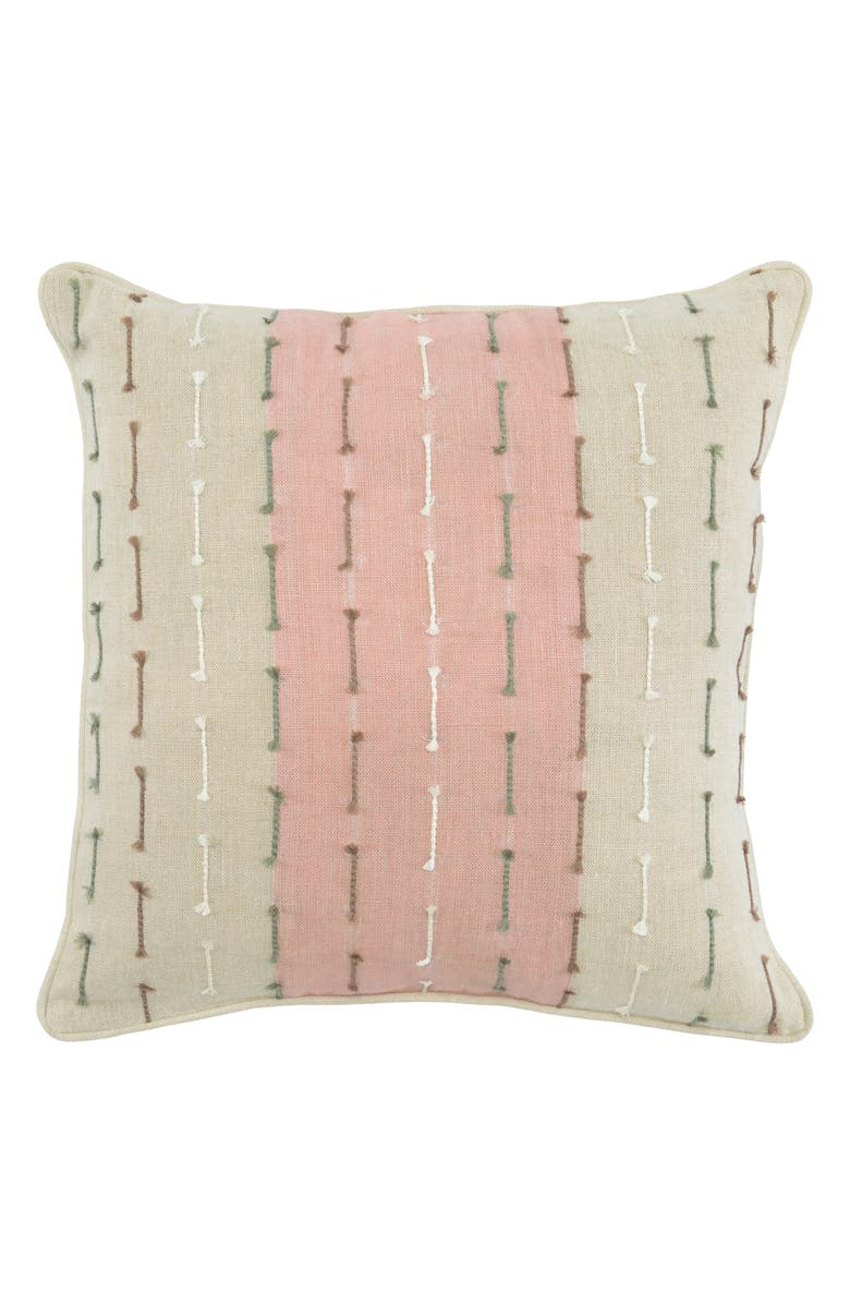 VILLA HOME COLLECTION Gwen Accent Pillow, Main, color, IVORY/ ROSE