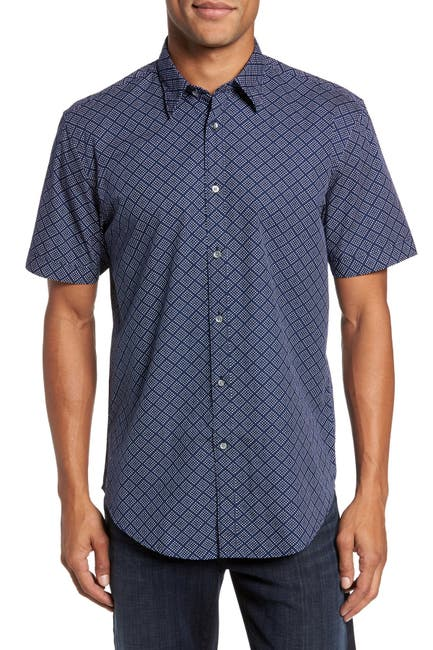 Image of COASTAORO Diamo Dot Print Regular Fit Sport Shirt