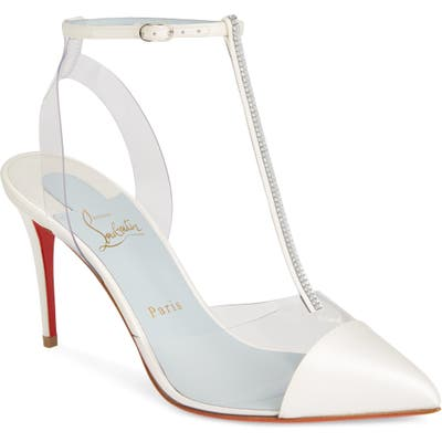 Christian Louboutin Nosy Jewel Clear Pump - White