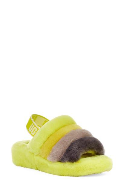 Ugg Sandals UGG FLUFF YEAH GENUINE SHEARLING SLINGBACK SANDAL