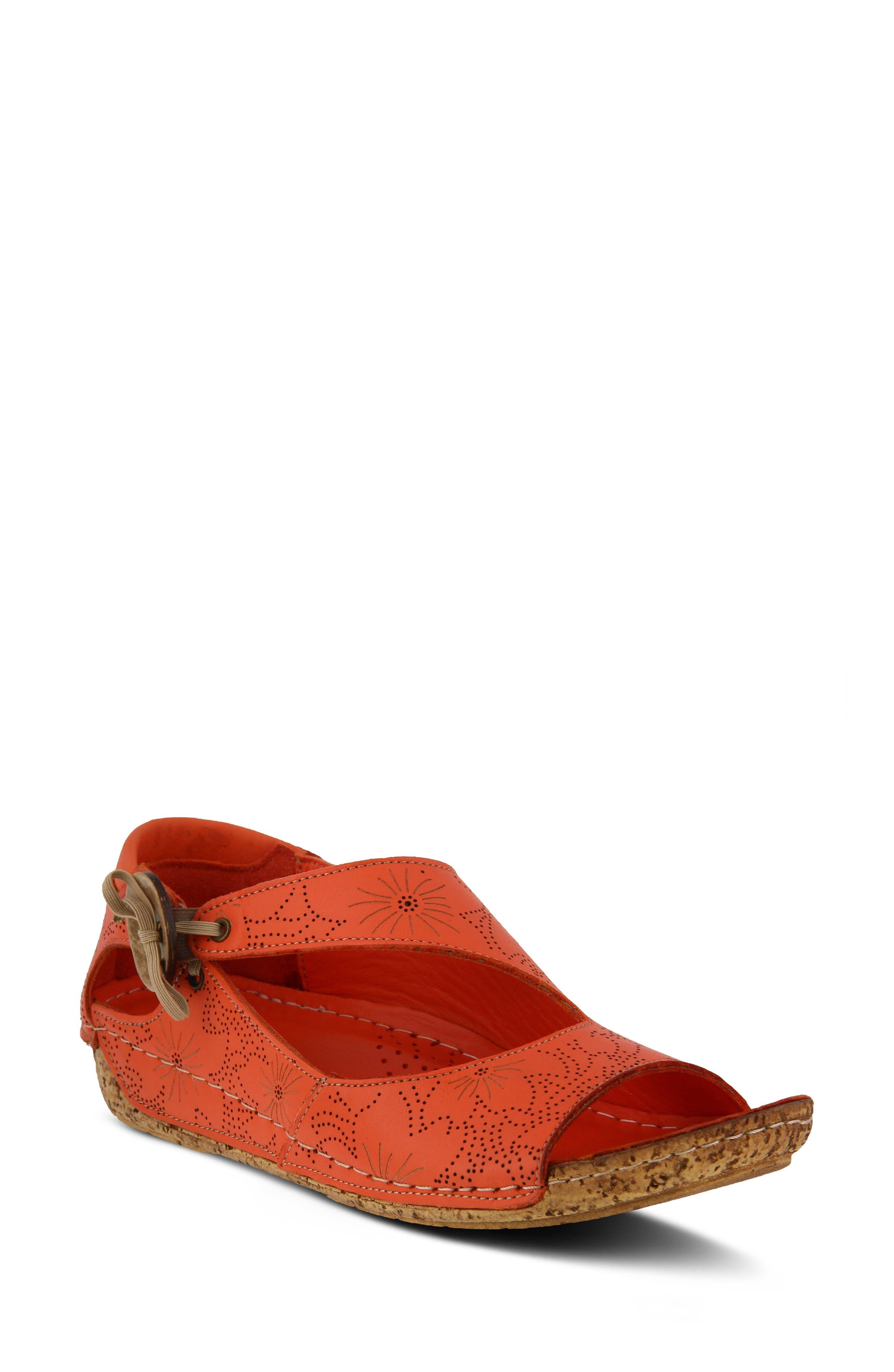 Spring Step Lorelle Flat - Red