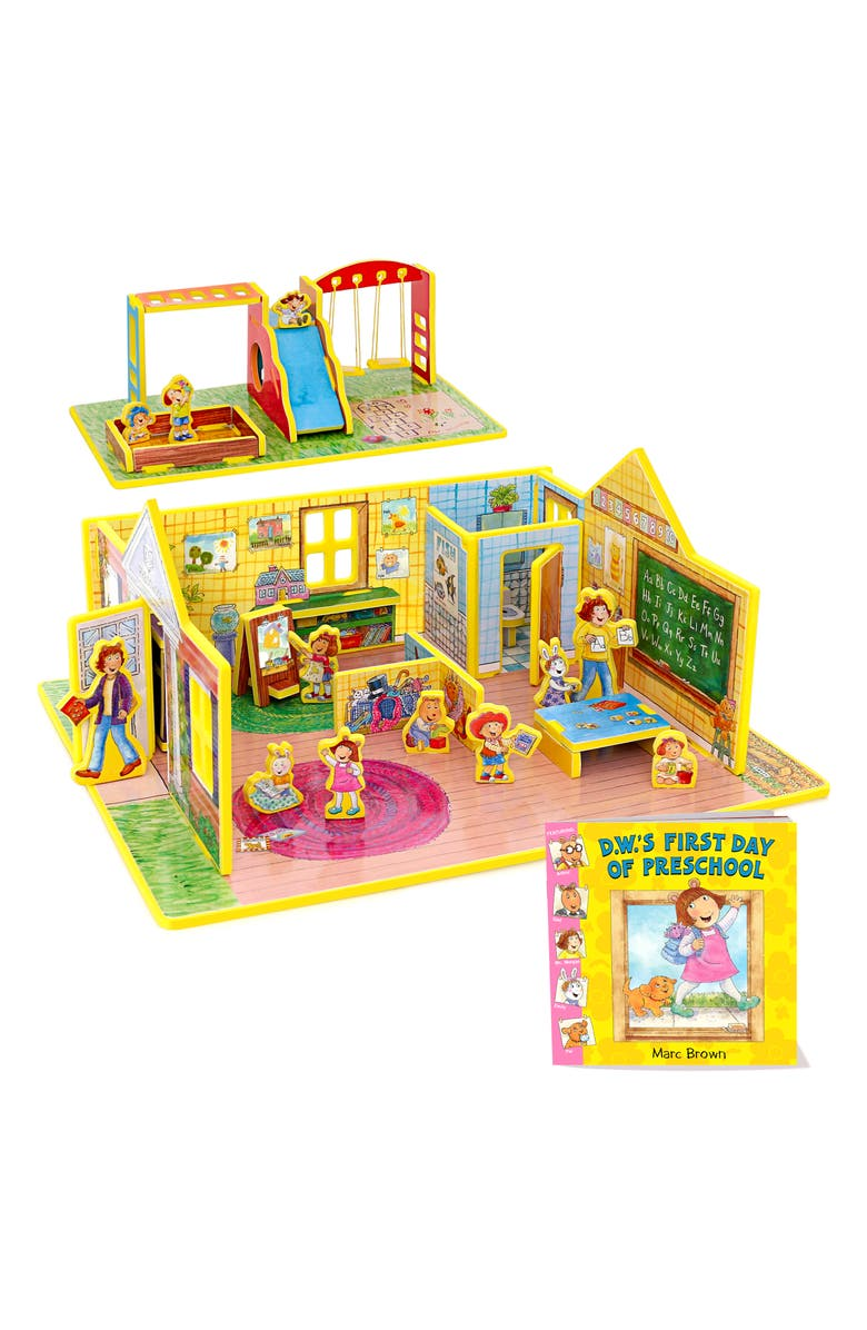 STORYTIME 'D.W.'s First Day of Preschool' Book & Play Set, Main, color, MULTI