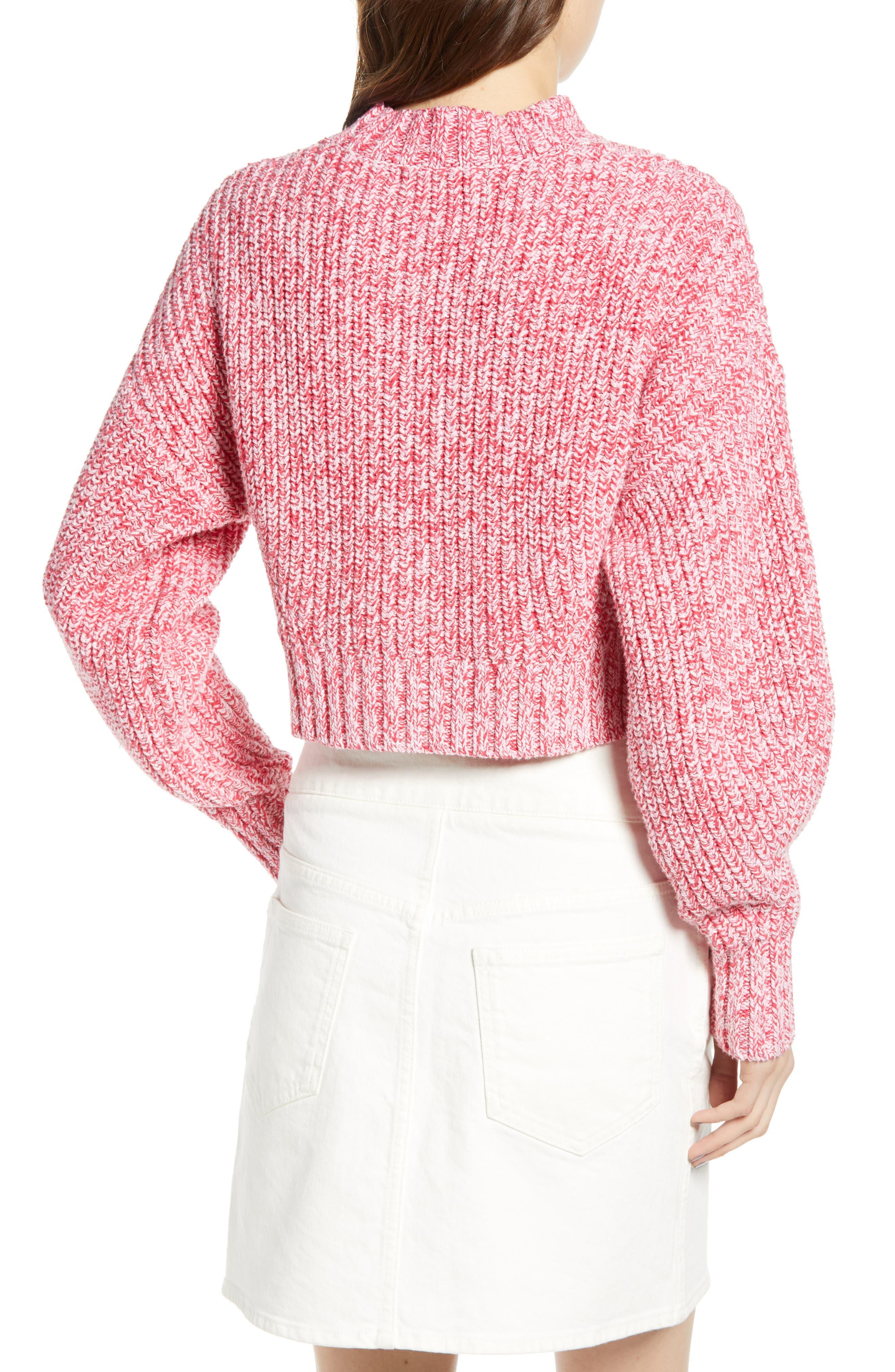 ,                             Blouson Sleeve Sweater,                             Alternate thumbnail 2, color,                             PINK MELANGE