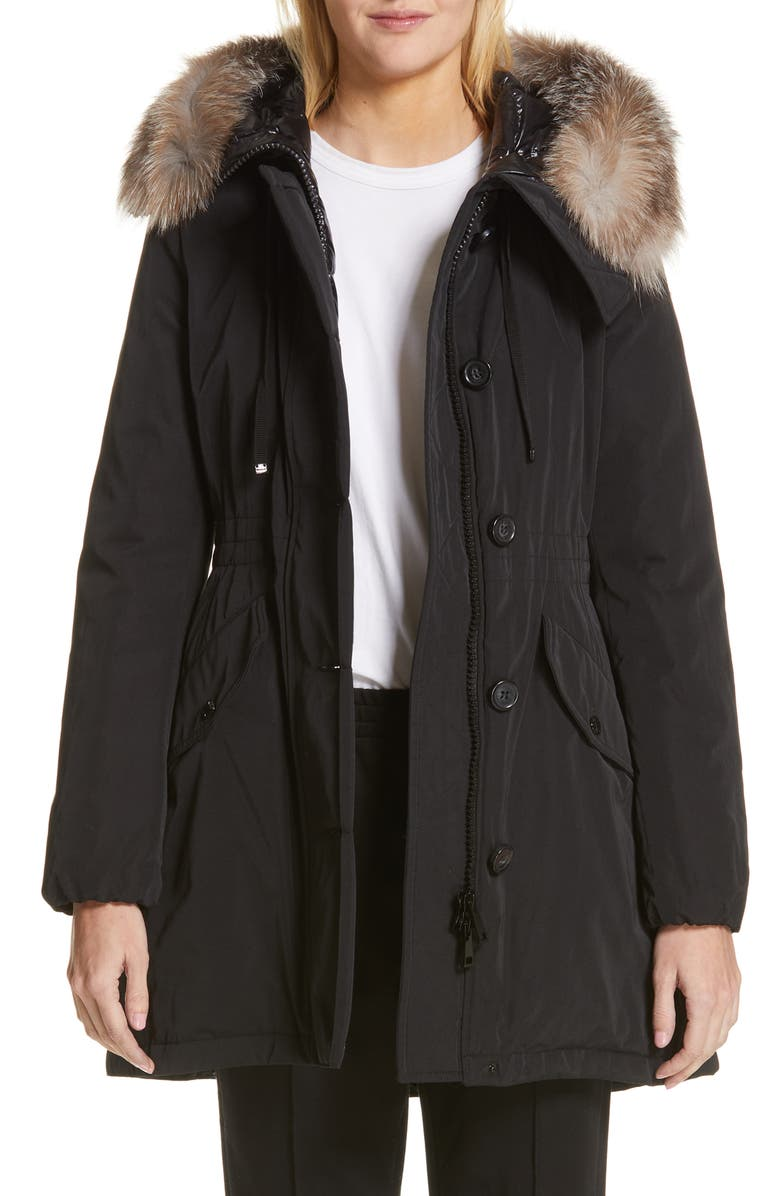 e2f36c14e Moncler Monticole Hooded Down Coat with Removable Genuine Fox Fur ...