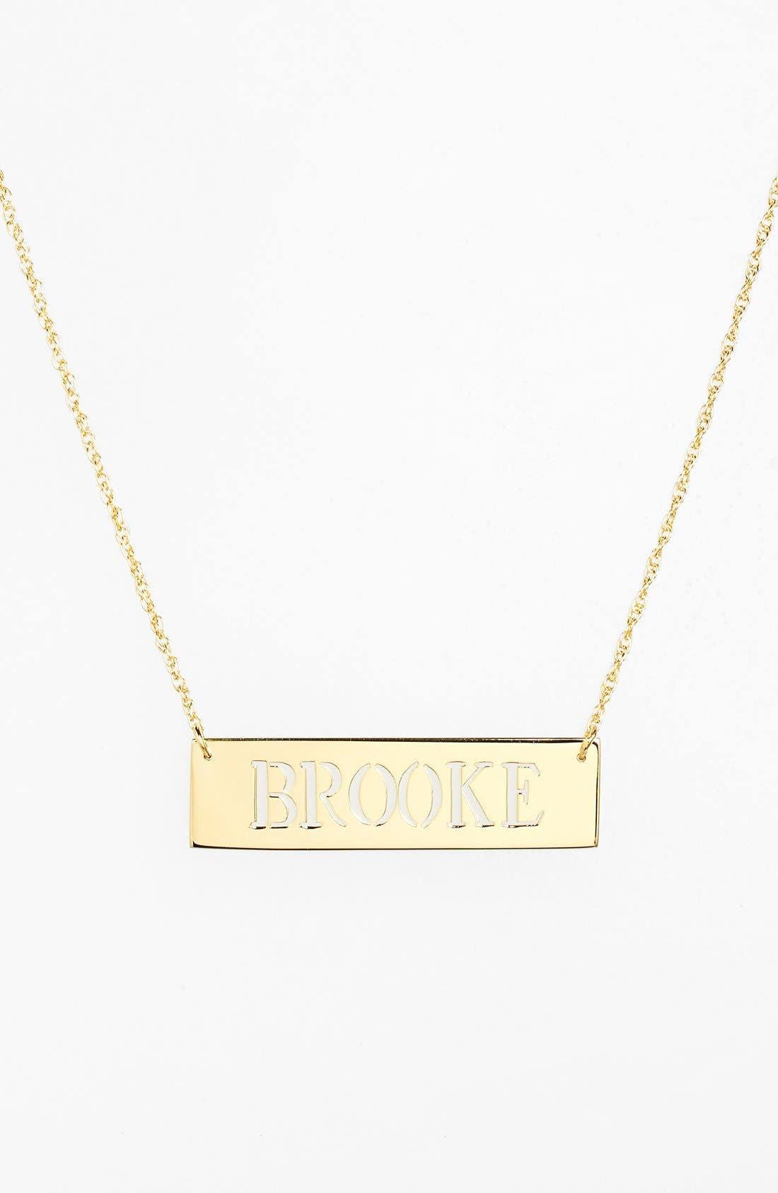 Personalized Cutout Nameplate Necklace