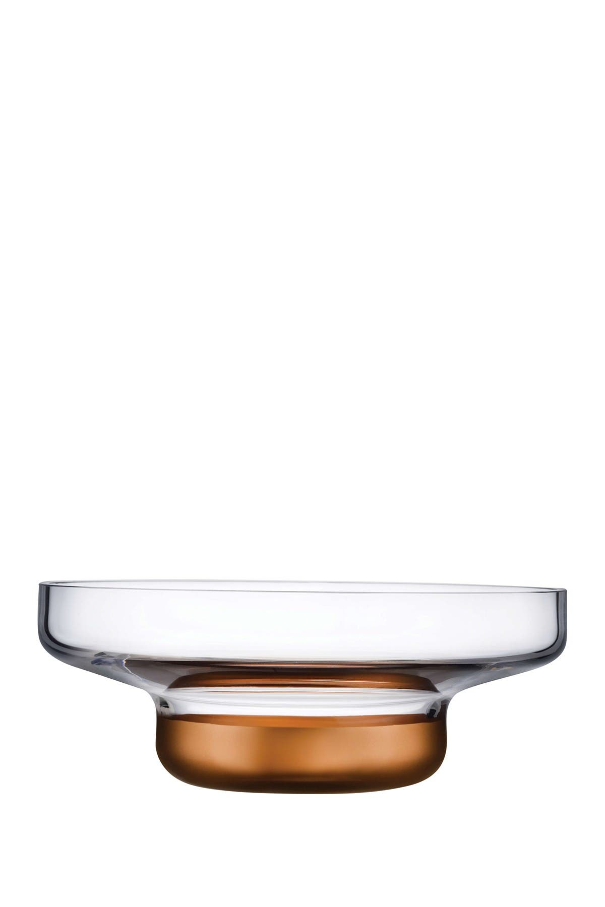 Image of Nude Glass Contour Bowl - Wide with Clear Top and Copper Base