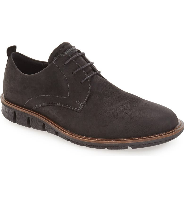 ECCO 'Jeremy Hybrid' Plain Toe Derby, Main, color, 001
