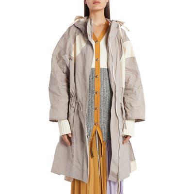2 Moncler 1952 Geo Hooded Jacket, (fits like 4-6 US) - Grey