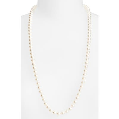 Nadri Long Imitation Pearl Necklace