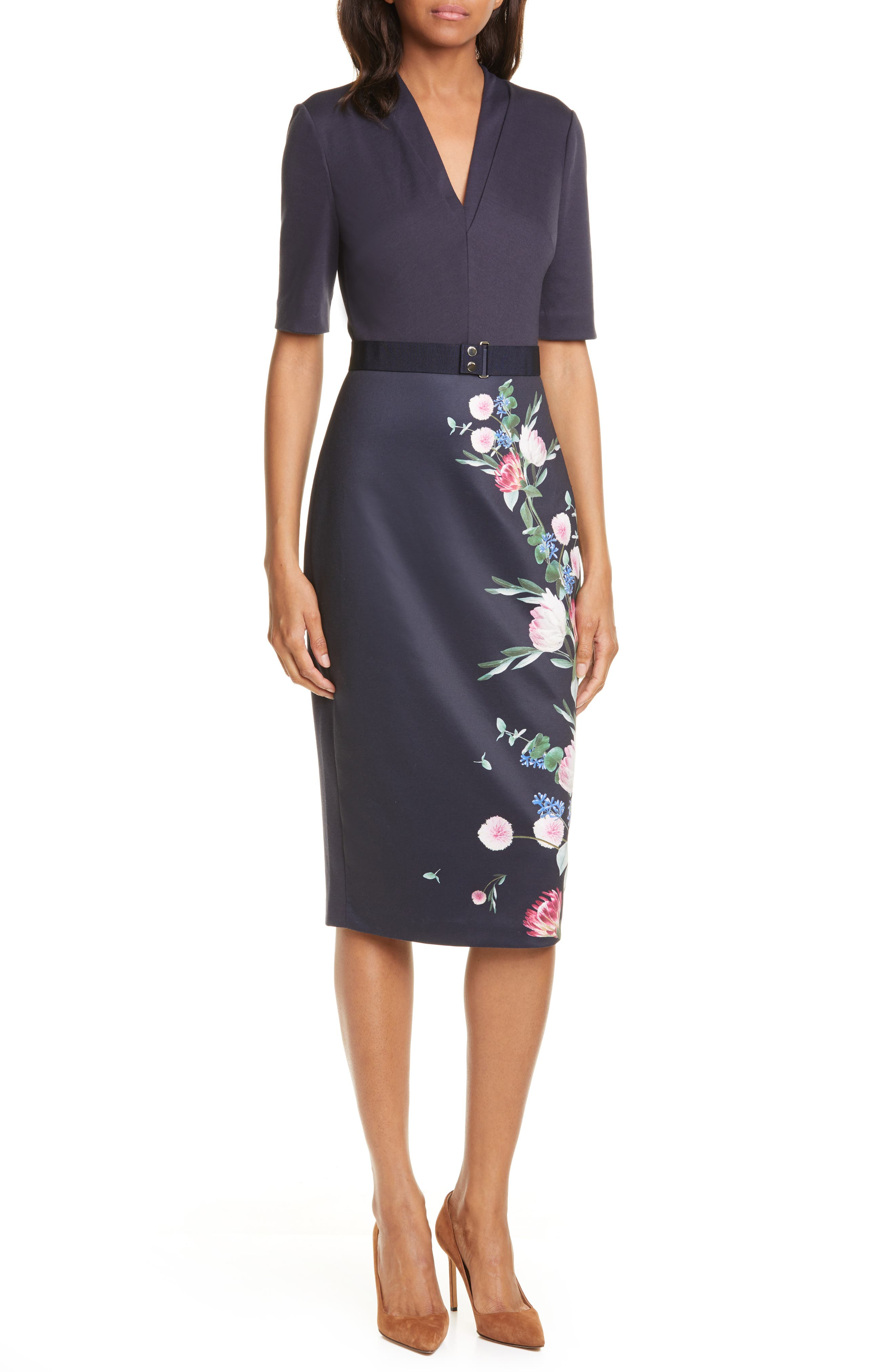 Ted Baker London Norraa Fantasia Body-Con Dress