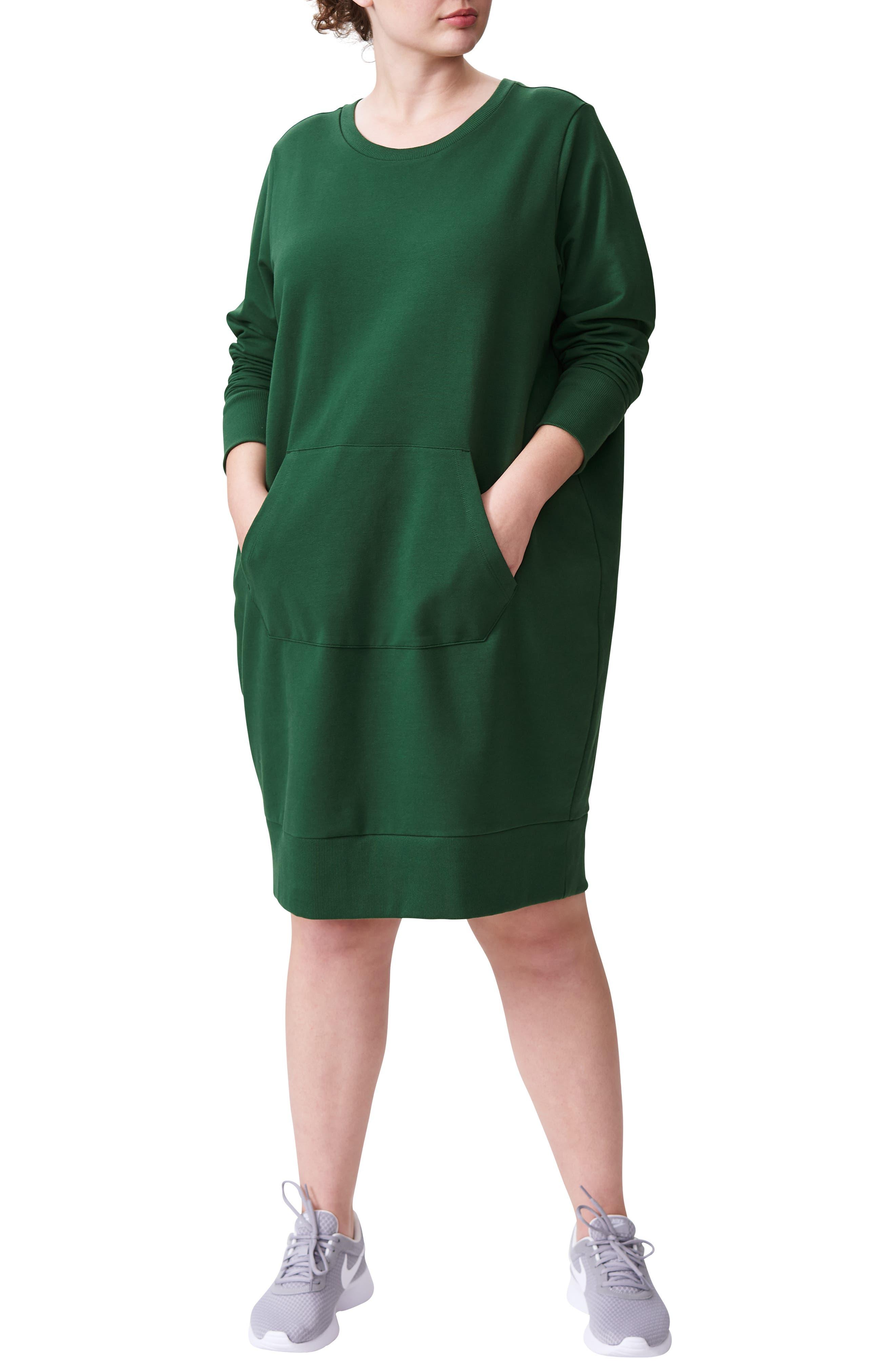 ,                             Long Sleeve Sweatshirt Dress,                             Main thumbnail 4, color,                             300