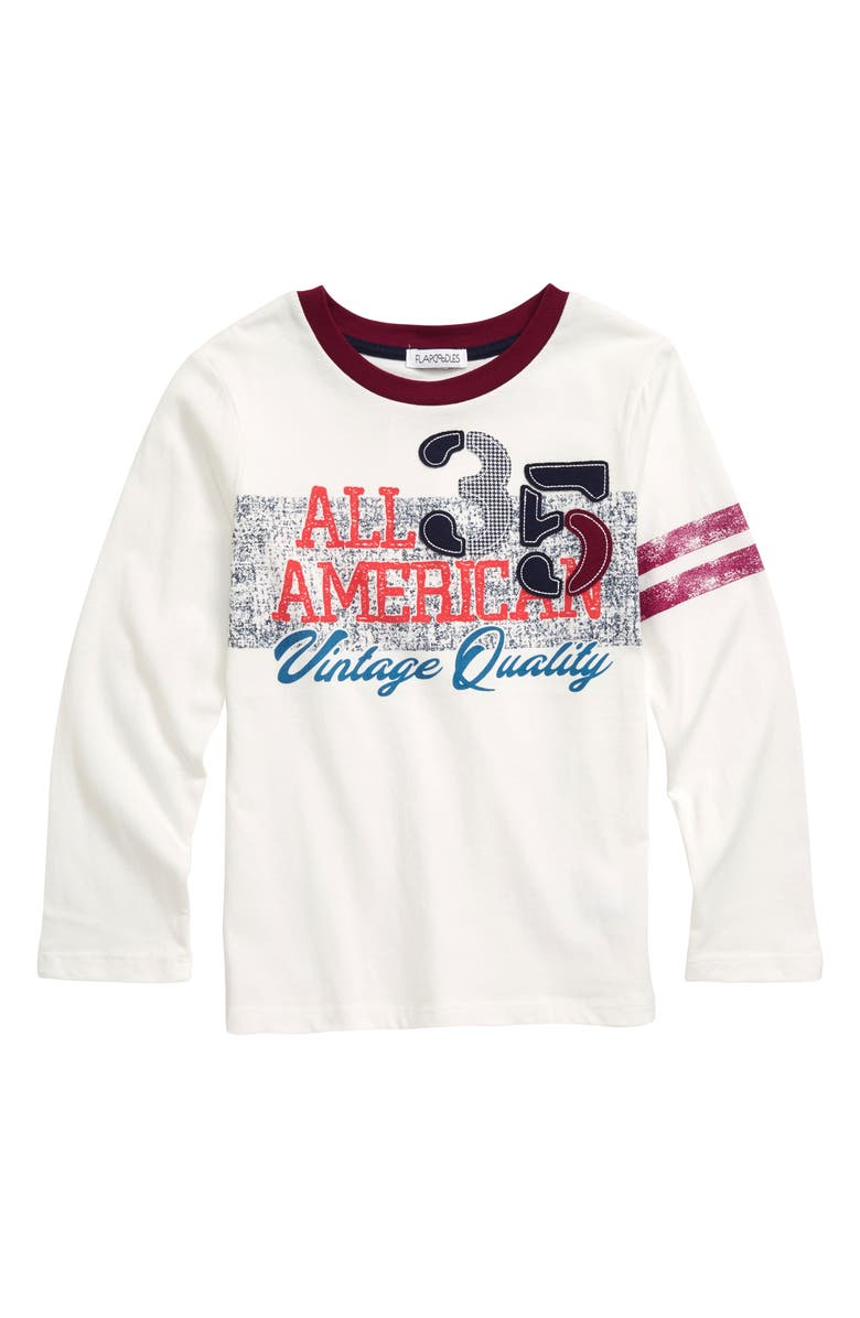 FLAPDOODLES All American Graphic Shirt, Main, color, WHITE