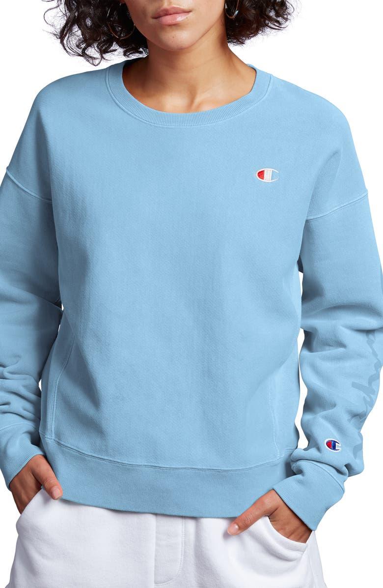 CHAMPION Garment Dye Reverse Weave Sweatshirt, Main, color, 400