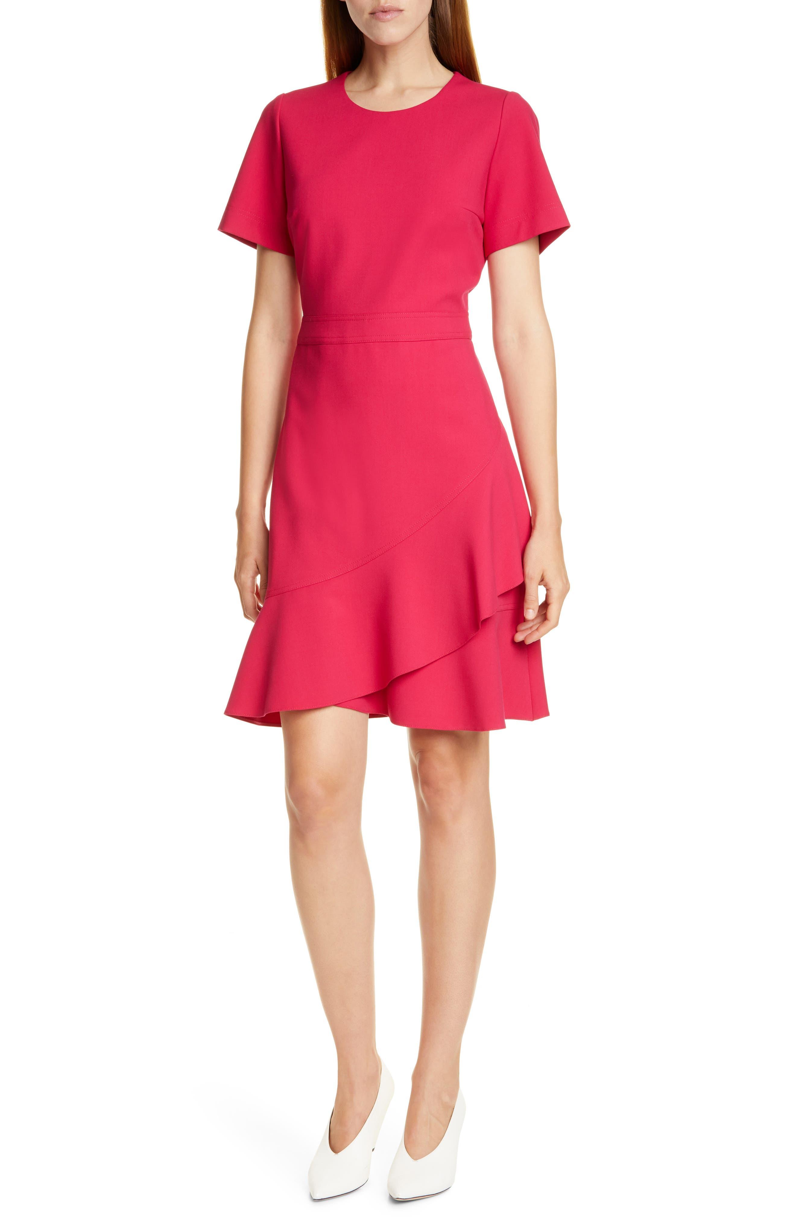 Hugo Kasica Fit & Flare Dress, Pink