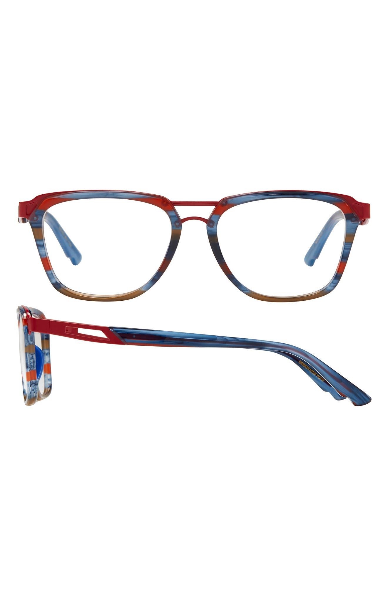 Overcome 52mm Rectangular Blue Light Filtering Glasses