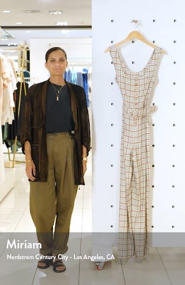 Plaid Button Front Jumpsuit, sales video thumbnail