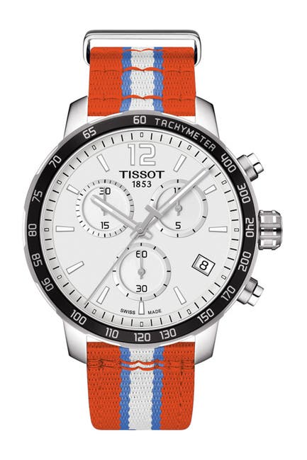 Image of Tissot Men's Quickster Chronograph NBA Oklahoma City Thunder Watch, 42mm